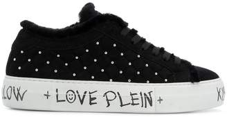 Philipp Plein microstud quilted low top sneakers