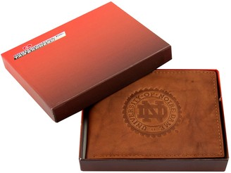Notre Dame Fighting Irish Leather Bifold Wallet