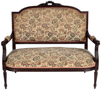 One Kings Lane Vintage Antique French Louis XVI-Style Settee - LR Antiques