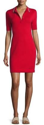 Jason Wu GREY Short-Sleeve Polo Shirtdress, Hibiscus Red