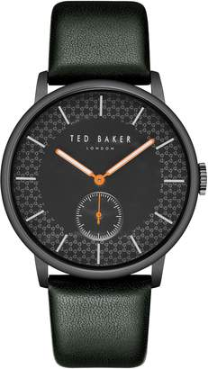 Ted Baker James Leather Strap Watch, 42mm