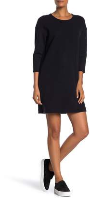 James Perse Crew Neck Solid Tunic Dress