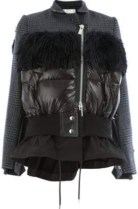 Sacai padded panel jacket