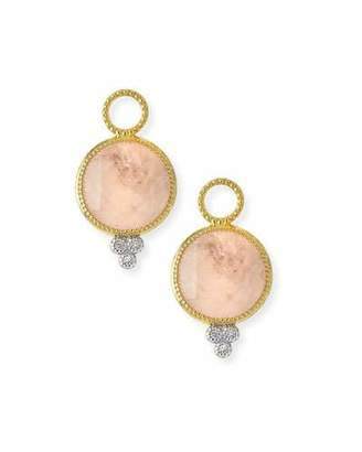 Jude Frances Provence Round Morganite Earring Charms with Diamonds