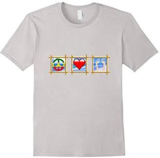 Peace Love Sandy Feet Beach T-Shirt