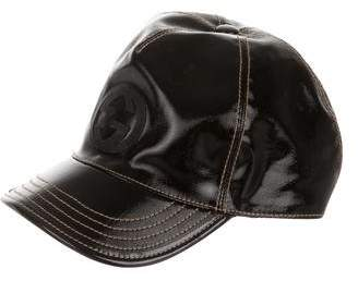 b2ea1d9859a50 Gucci GG Patent Leather Baseball Cap