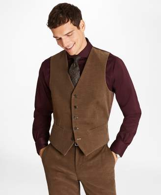 Brooks Brothers Fine Wale Stretch Corduroy Vest