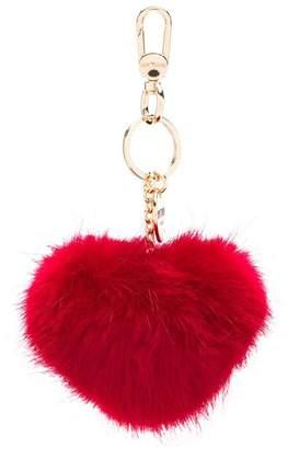 Twin-Set heart-shaped pompom keyring