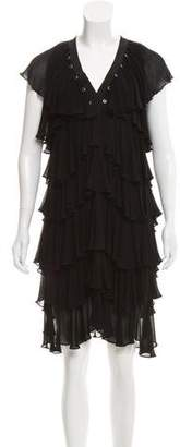 Givenchy Embellished Ruffle-Tiered Dress