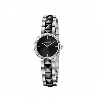CK Calvin Klein (CK カルバン クライン) - カルバン・クライン ウォッチ(Calvin Klein watches) レディース時計(カルバン・クラインエッジ(CalvinKleinedge)【型番:K5T33C41】【ブラック/1サイズ】