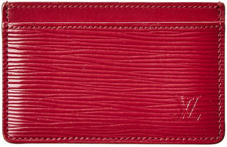 Louis Vuitton Fuchsia Epi Leather Porte Cartes Simple Card Holder