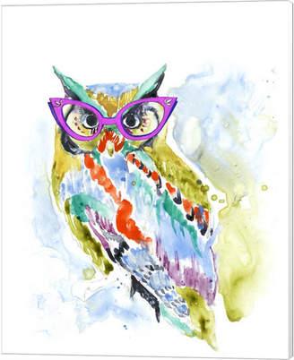 Smarty-Pants Owl By Jennifer Goldberger Canvas Art