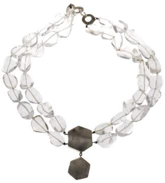 Sterling Silver with Quartz Crystal Bead Necklace