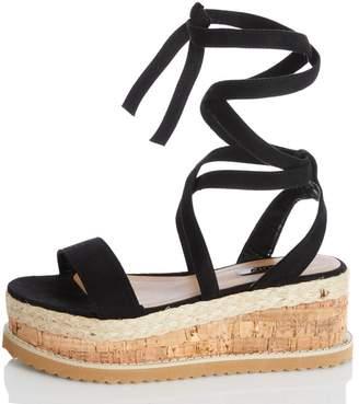 Quiz TOWIE Black Flatform Sandals