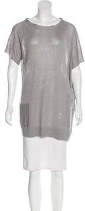 Brunello Cucinelli Linen & Silk-Knit Tunic