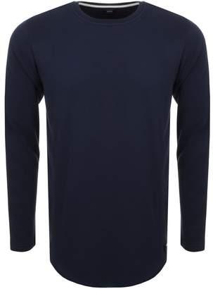 Edwin Long Sleeve Terry T Shirt Navy