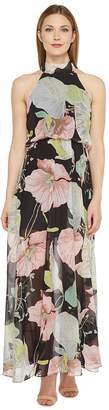 Brigitte Bailey Jacey High Neck Floral Dress Women's Dress