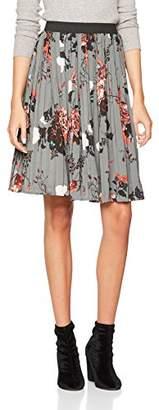 Only Women's Onlriga Plisse AOP WVN Skirt