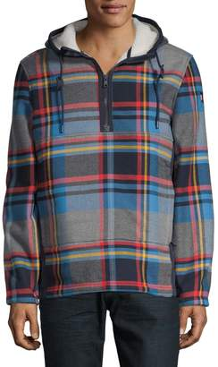 Tommy Hilfiger Plaid Faux Fur-Lined Cotton Hooded Jacket
