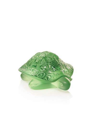 Lalique Green Sidonie Turtle