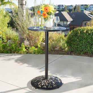 Noble House McDowell Outdoor Cast Bar Table, Shiny Copper
