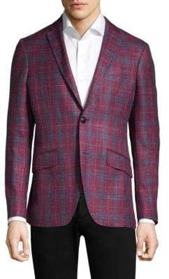 Etro Check Slim-Fit Jacket