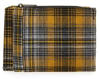 BP Plaid Zip Top Card Case