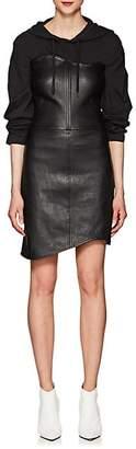 Helmut Lang Women's Wavy Leather Dress - Black