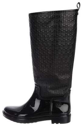 Michael Kors Embossed Logo Rain Boots