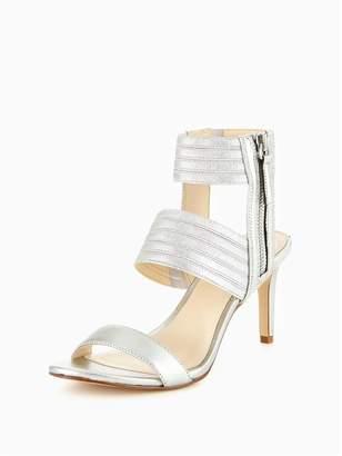 Nine West Ilyse Mid Heel Triple Elastic Strap Sandal