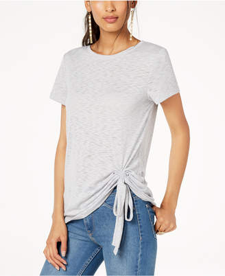 INC International Concepts I.n.c. Ruched Crew-Neck T-Shirt, Created for Macy's