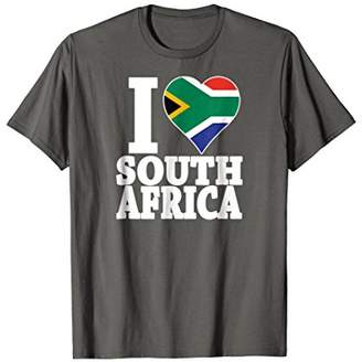 African Pride South I love South Africa flag t-shirt
