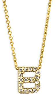 Roberto Coin Women's Tiny Treasures Diamond & 18K Yellow Gold Initial Necklace