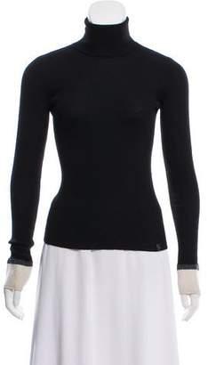 Chanel Silk-Cashmere Turtleneck Sweater