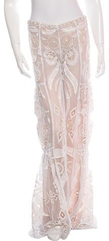 Emilio Pucci Embellished Lace Pants w/ Tags