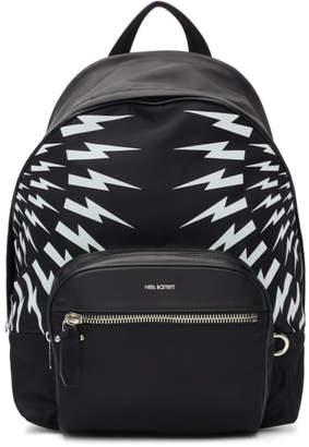 Neil Barrett Black and White Dual Multi Bolt Backpack