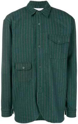Han Kjobenhavn asymmetrical patch pocket shirt
