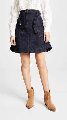 Carven Ruffle Pocket Skirt