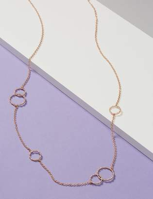 Long Pave Circle Necklace