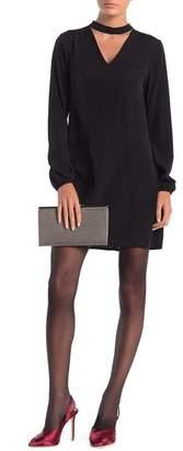 Cynthia Steffe CeCe by Roxanne Mock Neck Long Sleeve Dress