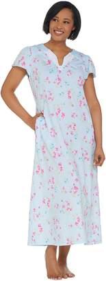 Carole Hochman Watercolor Bouquet Cotton Jersey Long Gown