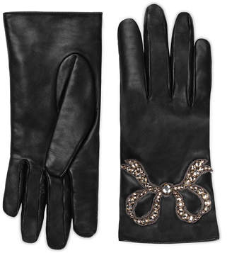 Gucci Leather gloves with bow