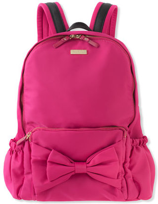 Kate Spade New York Girls' Back To School Nylon Backpack, Pink $128 thestylecure.com