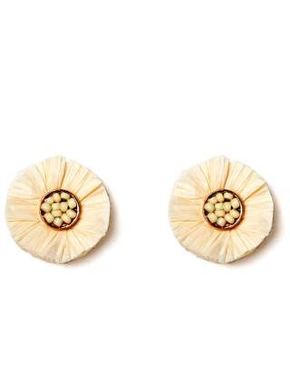 Fornash Raffia Stud Earrings