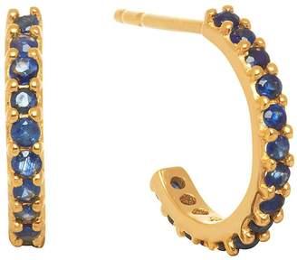 Lola Rose London - Small Hoop Earrings Blue Sapphire