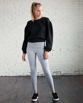 Express Petite Foldover Brushed Fabric Leggings