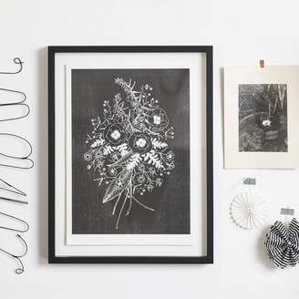 STUDY YVE PRINT CO. Wildflower Risograph Print In Black And White