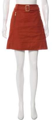Tory Burch Belted Mini Skirt