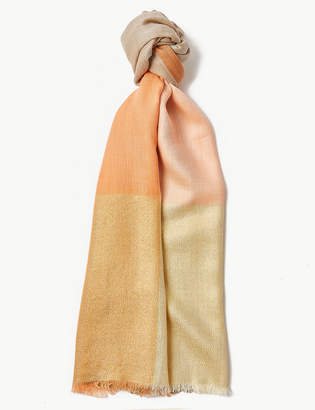 M&S CollectionMarks and Spencer Colour Block Scarf