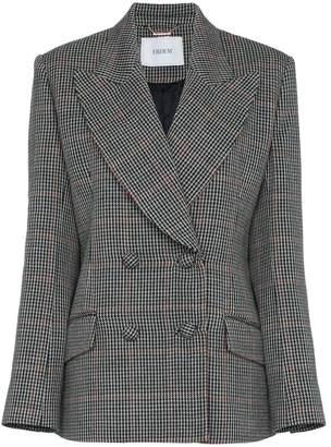Erdem Jaspar wool and silk houndstooth jacket